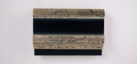 31GL Gevlokt zilver - zwart